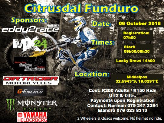 Citrusdal Funduro Poster 2018