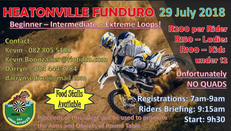 heatonville funduro 2018 poster